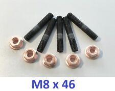 5 St. Stehbolzen M8x46 (M8x45) + Kupfermutter M8 SW13 mit Sicherung mit Bund