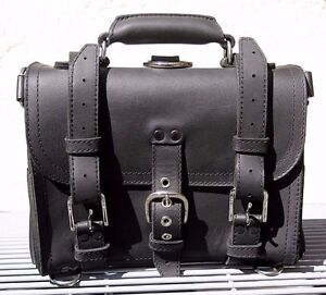 """Saddleback Leather 2012 12"""" SMALL CLASSIC BRIEFCASE Black Suede-Lined 2-Rivet"""