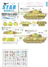 Star Decals 1/35 TIGER I & KING TIGER TANKS 1 Kompanie SS-Pz.Abt.101 & 501