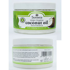 Sunsera 100% biologico crudo Puro Olio Extra Vergine Cocco Hair & Skin Care 275 ML