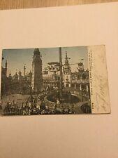 Old Postcard 1906 Luna Park Coney Island New York Amusement Rides