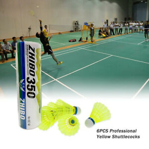 Sport 6/12pcs Yellow Game Nylon Feather Mavis 350 Badminton Ball Shuttlecocks