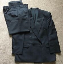 """Marks & Spencer Mens Double Breasted Charcoal Suit 42""""R Jacket, 36/29"""" Trousers"""
