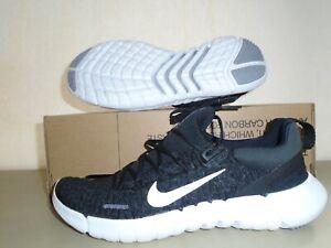 New Womens Nike Free RN 5.0 Next Nature Black White Running Shoes sz 10