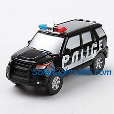 5008 Solar Police Car with Versatile Wheel Black Color Great Gift