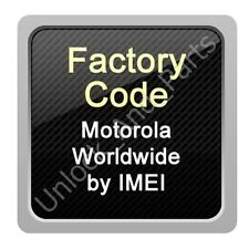 Motorola Unlock Code Verizon USA Moto G4 Play Droid 2 3 Razr XT610