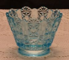 Fenton Blue Daisy and Button Mini Oil Lamp Shade - GTC