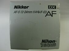 Nikon AF-S 12-24mm f/4G ED IF lens nikon 12-24mm f4g if ed dx demo lens 2144