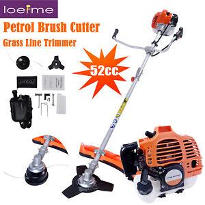 2-Stroke Single Cylinder 52cc Petrol Brush Cutter, Grass Line Trimmer