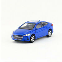 1:36 Hyundai Elantra Model Car Diecast Toy Vehicle Pull Back Blue Kids Boys Gift