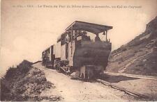 CPA 63 LE TRAIN DU PUY DE DOME DANS LA DESCENTE AU COL DE CEYSSAT (TRAIN EN GROS