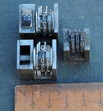 3 x Numerierwerk Handsatz Buchdruck Nummerierwerk Numerierwerke Typographie Typo