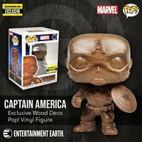 Funko Captain America Wood Deco Pop! Vinyl Figure Entertainment Earth Exclusive