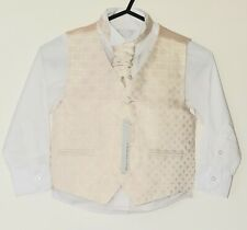 Boys RED HERRING Gold Waistcoat Shirt Cravat Set - AGE 5 Years - RRP £38!