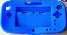 Azul De Silicona Protector Funda Para Nintendo Wii U Controller Pro