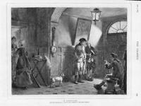 1875 Antique Print - FINE ART Possession Gow Men Dog Barometer Talking (G219)