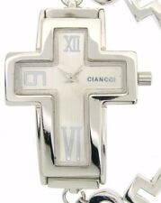 WOMENS ladies Bling cross NICE BRACELET Watch SILVER