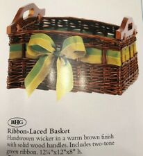 Ribbon Laced Basket Vintage Home Interiors & Gifts Gtc New