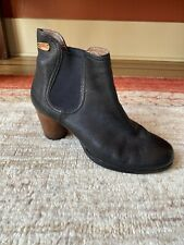CAMPER Ankle Boots, Black Leather, Round Toe, Side Goring, Size 39, 8.5M US