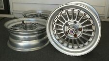 "RARE JDM Wedsport Albino Mesh Wheels 15"" 5x114.3 Rims Ewing Spinner Racing Hart"