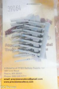 Precision Scale HO #39064 Stanchions, Alco Handrail (Plastic) 24pcs