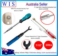 3 in 1 Telstra NBN Tool Set,RG6 Torque Wrench w F-Type Remover & Box Locking Key