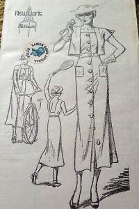 RARE VTG 1930s DRESS & EATON JACKET NEW YORK Sewing Pattern 18/36 FF