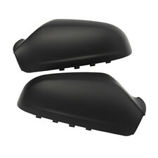 1Pair Wing Mirror Cover Cap Casing For Opel Astra 04-08 Matte Black Left & Right