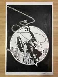 Spider-Gwen #25 Variant Gwenom Original Cover Art & Signed Ed McGuinness Marvel