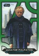 Star Wars Galactic Files 2018 Green [199] Base Card TPM-29 Senator Palpatine