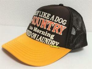 kapital kountry WORKING PUKING PT 2TONE truck cap hat trucker brown gold