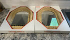 2 New In Box Rattan Mirrors 30.5 CM X 40.7 CM Made In Hong Kong