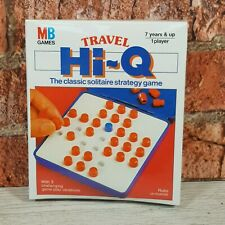 RARE Vintage 1986 MB Games Travel Hi-q Solitaire Strategy Game