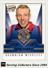 2015 Select AFL Honours S2 Brownlow Gallery Card BG70 John Schultz (Footscray)