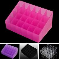 24grid Cosmetic Lipstick Acrylic Storage Display Rack Holder Organizer trapezoid