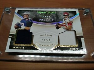 2020 IMMACULATE TOM BRADY & PATRICK MAHOMES DUAL JERSEY PATCH SER#28/49 PERFECT!