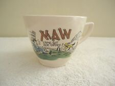 "Vintage Ceramic "" Maw Come Git yer Coffee "" Mug / Cup "" GREAT COLLECTIBLE ITEM """
