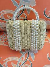 Golden Girls Wicker Purse Vintage Style Sophia Petrillo Beaded Rattan Boho bag
