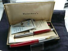 WATERMAN CF 14K GOLD NIB FOUNTAIN PEN AND PENCIL  WITH BOX-PAPERS