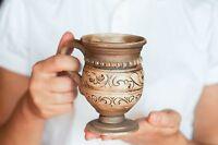 Irish coffee mug Rustic cup Handmade Pottery Cafe mocha Latte mug