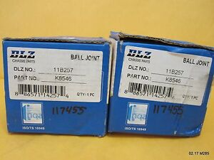 Two (2) DLZ Suspension 11B257 / K8546 Ball Joint
