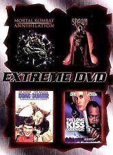 Extreme DVD 4 Pack 1998 4-Disc Set, Spawn Mortal Combat Dumb & Dumber Dummer NEW