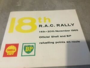 1969 RAC RALLY OFFICIAL SHELL AND BP FUEL STOPS BOOKLET EX JIM PORTER