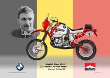 Print on Canvas Marlboro BMW R80 G/S 1985 #101 Gaston Rahier Flag 160 x 120