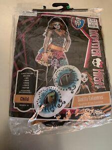 Monster High Skelita Calaveras Wig Black Orange Child Used Only Once! Everything