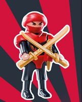 Playmobil Figures Series 12 Luchador japones Ninja traje rojo 9241+