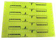 10 Childs / Elderly Person Emergency Number / ID Vinyl Bracelet Wristband