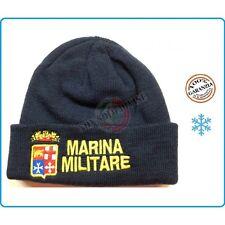 Berretto Papalina Cuffia Zuccotto Watch Cap Con Ricamo Marina Militare Italiana