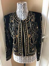 Vintage Designer GUNIT FASHION sequins beaded Matador bolero coat Jacket XS S