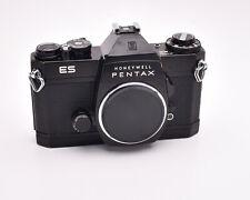 Honeywell Pentax Black ES 35mm SLR Film Camera Body M42 Body Cap (#4611)
